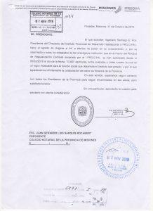 Nota Ing. Santiago E. Ros - I.PRO.D.HA.